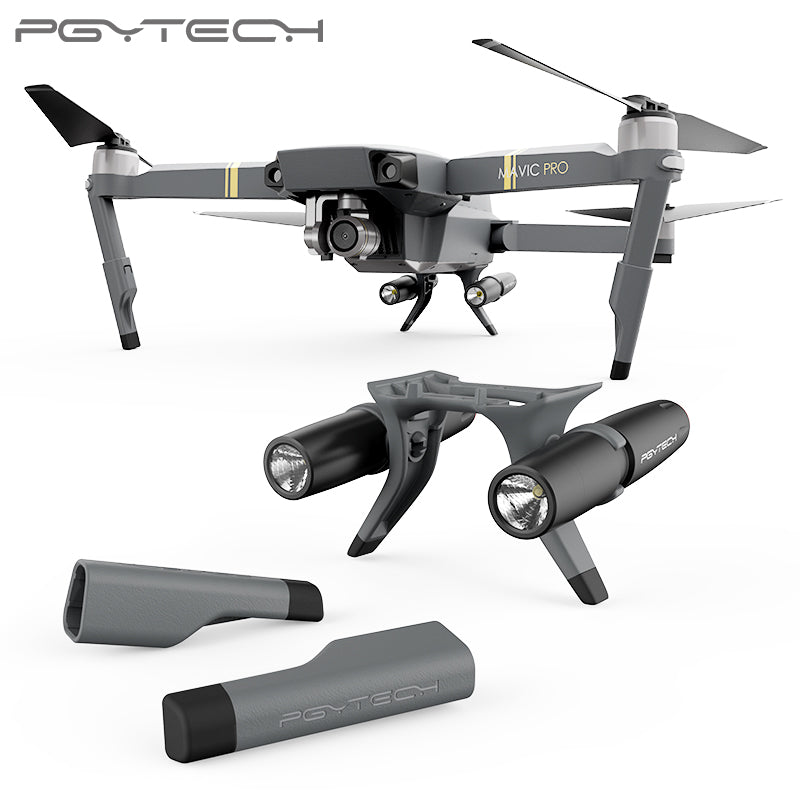 PGYTECH Landing Gear Extensions LED Headlamp Set for MAVIC PRO