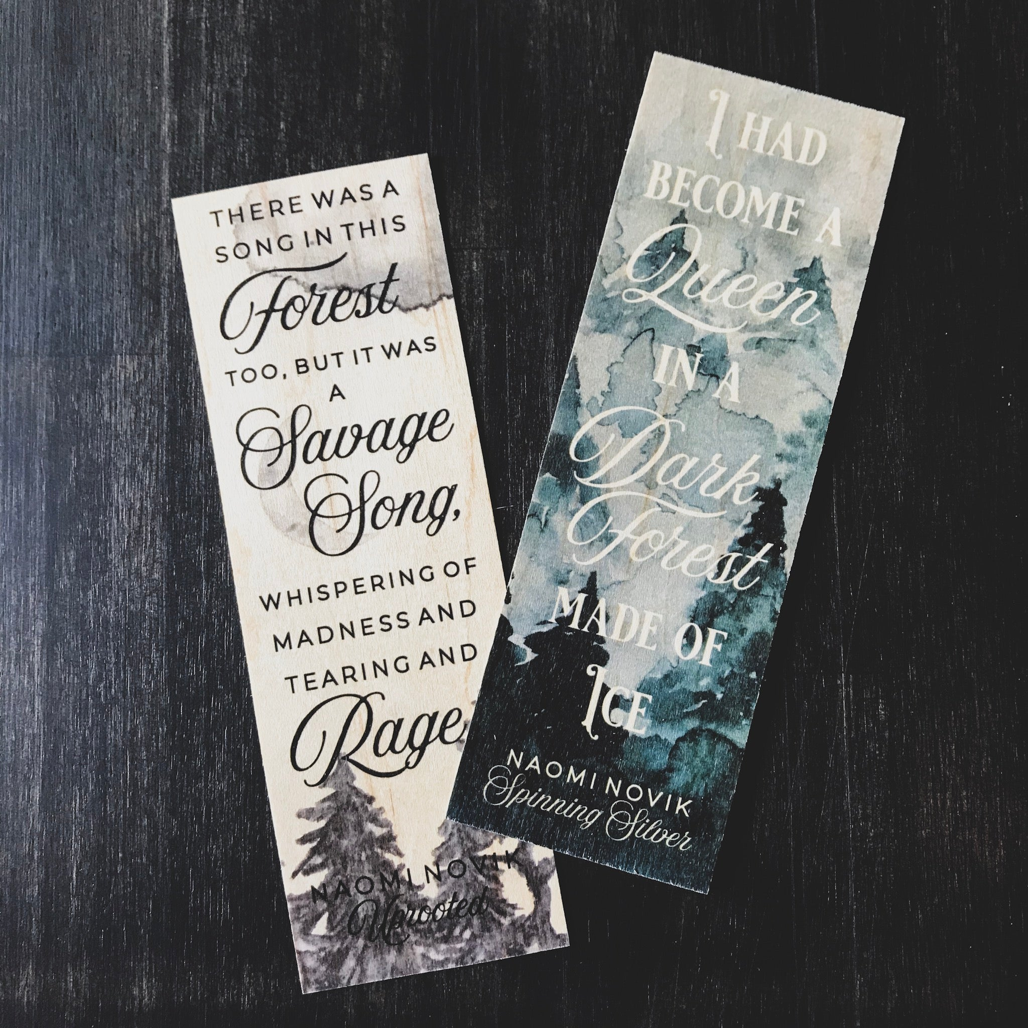 Uprooted & Spinning Silver Double-Sided Bookmark