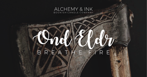 Ond Eldr. Breath Fire | Sky in the Deep | Viking Inspired Candle