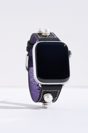 Napa Leather Apple Watch Band with Pearls