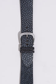 Black Galuchat Stingray Leather Strap