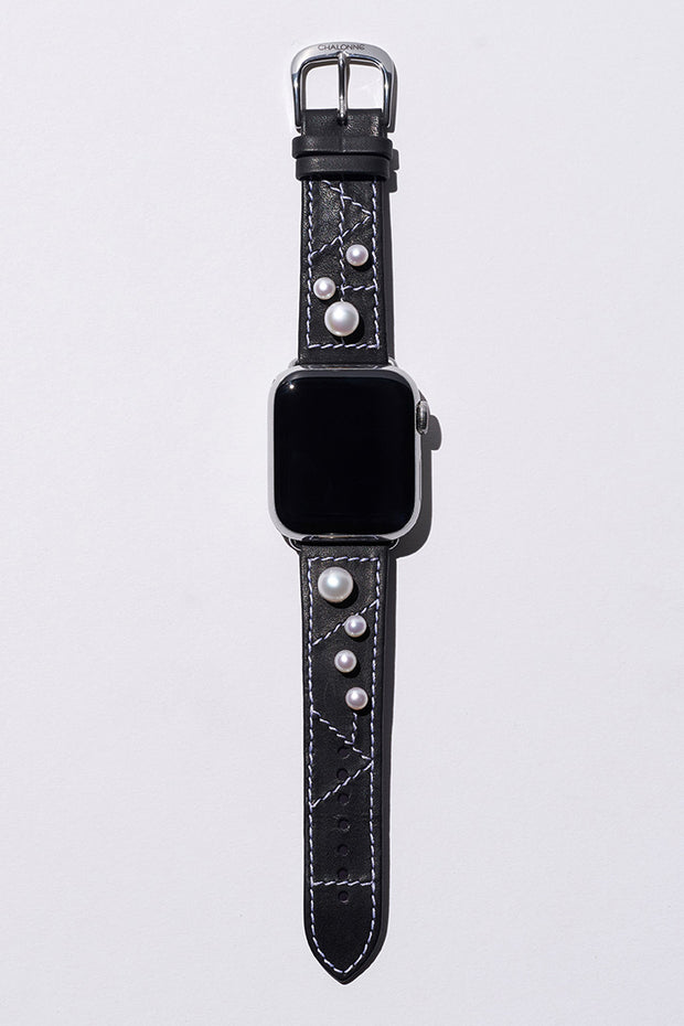 Custom Perle Apple Watch strap