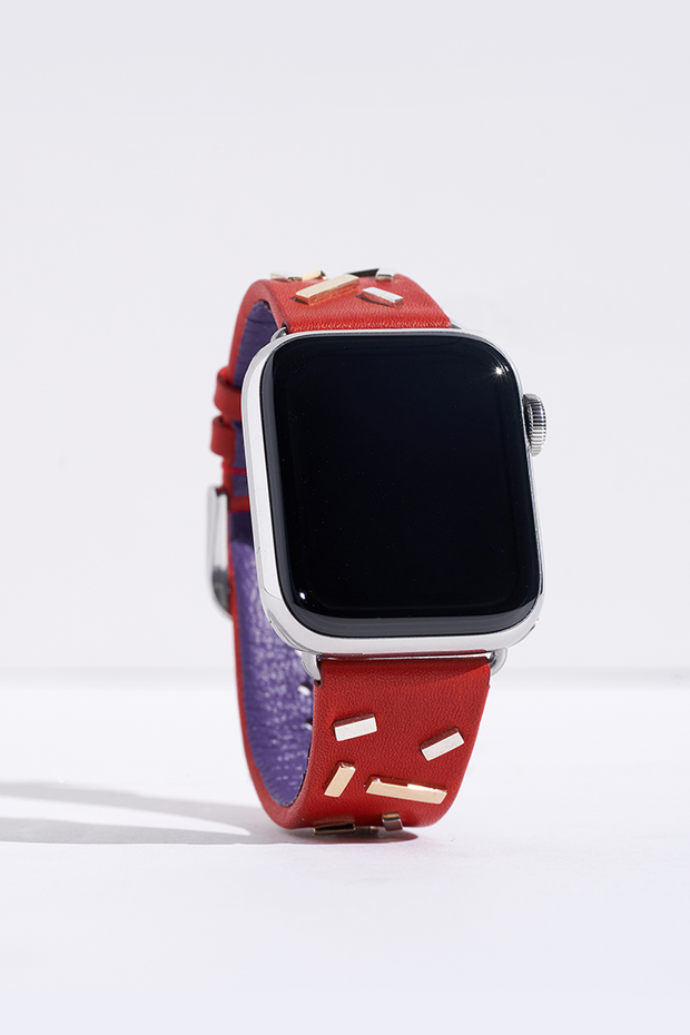 Red Napa Leather Apple Watch Strap