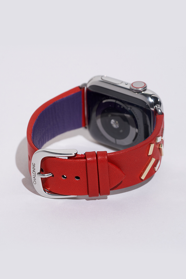 Red Apple Watch Leather Band