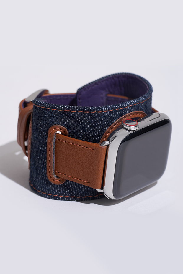 Indigo Denim Cuff Watch Strap