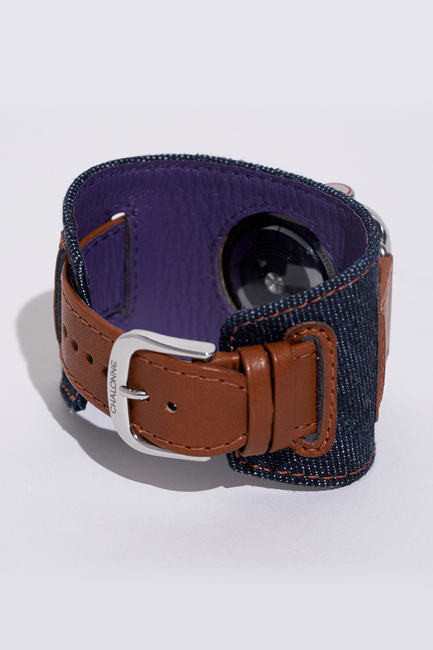 Indigo Leather Watch strap