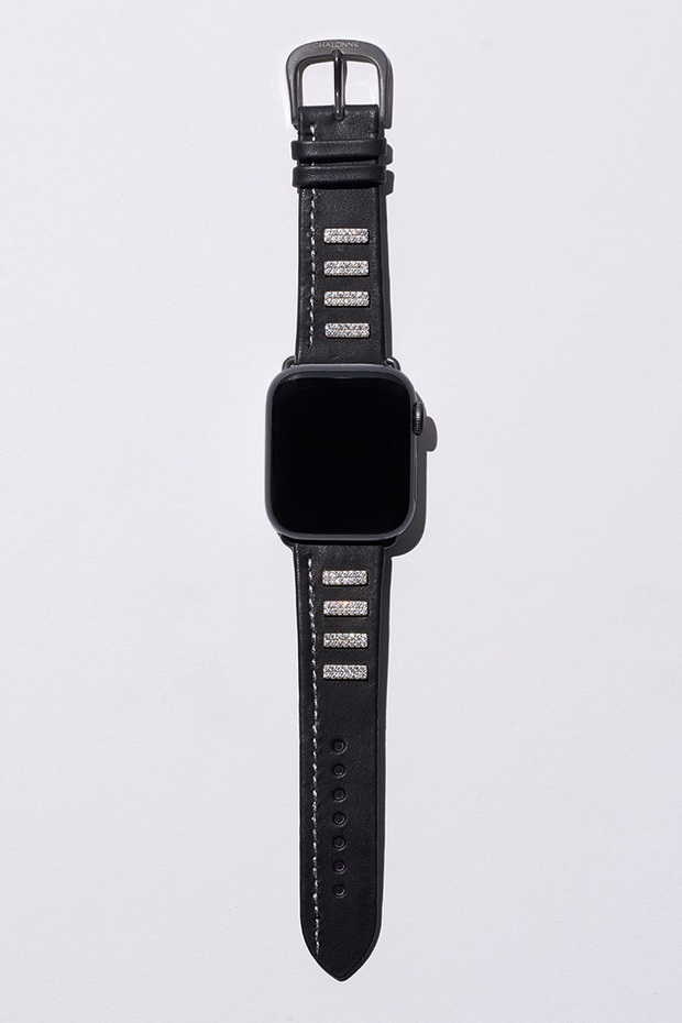 Black Napa Leather Apple Watch Strap