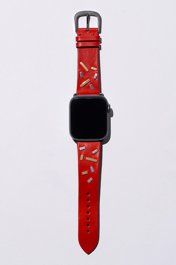 Red Napa Leather Watch Strap