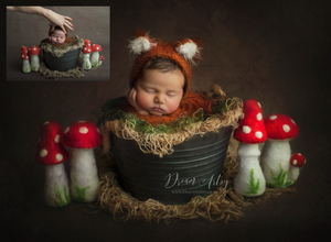 Creamy Background Edit Newborn Editing Tutorial Newborn Actions Fine Art Photography Painterly Effect Woodland Theme Photoshoot
