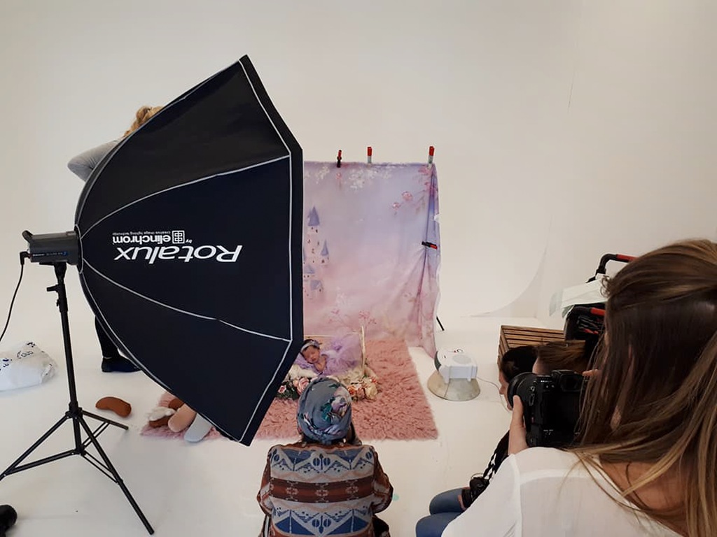 Behind the Scenes BTS Newborn Posing Workshop