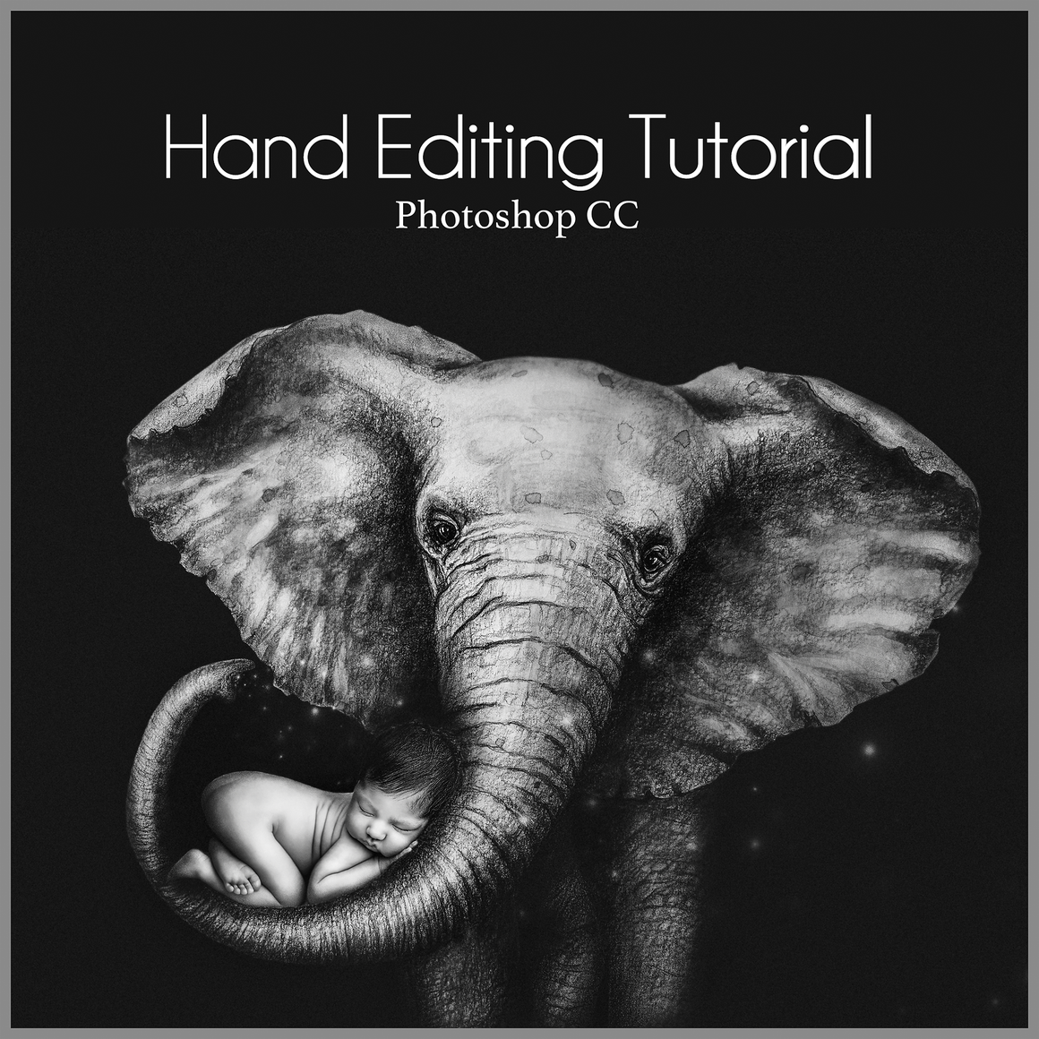 NEW!  Digital Edit Tutorial Elephant - Dream Artsy Actions Tutorials