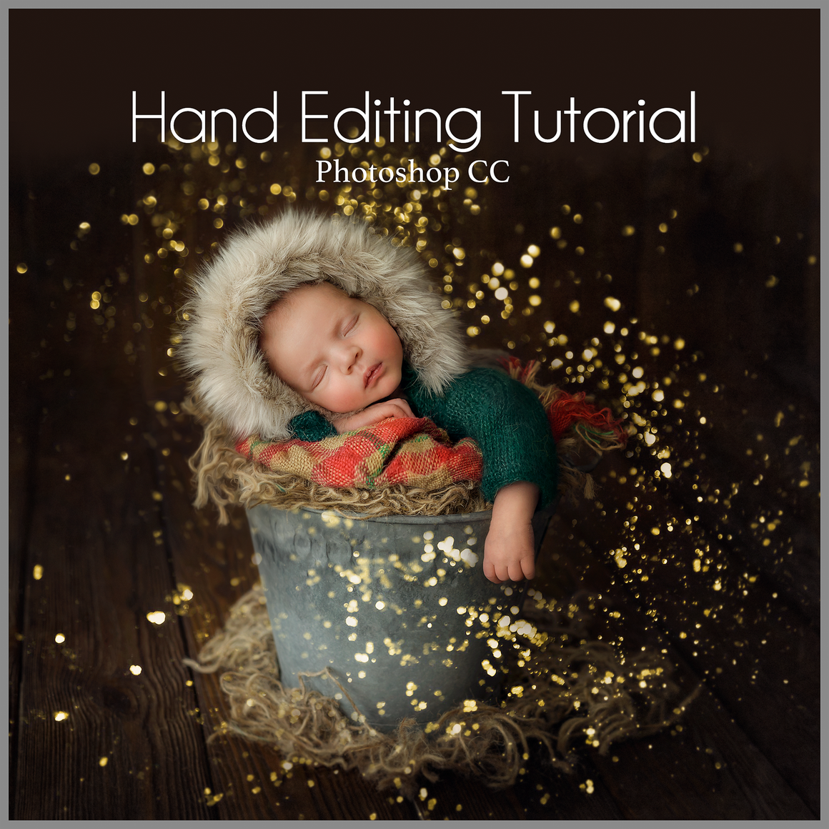 Magic Festive Glitter Newborn Editing Tutorial | Photoshop Class - Dream Artsy Actions Tutorials
