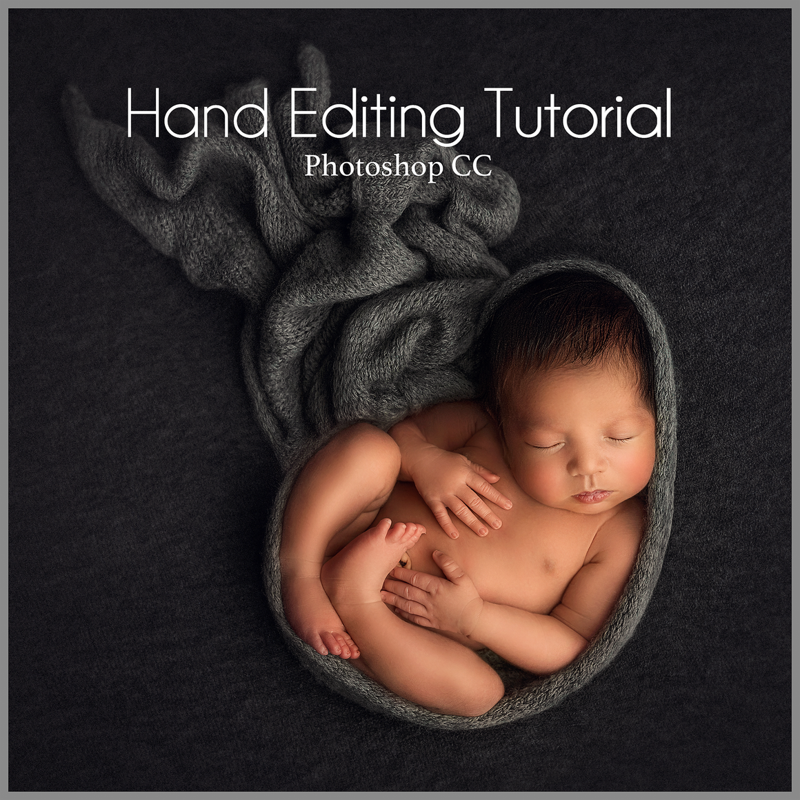 Grey on Beanbag Newborn Editing Tutorial | Photoshop Class - Dream Artsy Actions Tutorials