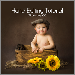 Fine Art Simple Studio Sitter Baby Editing Tutorial  | Photoshop Class