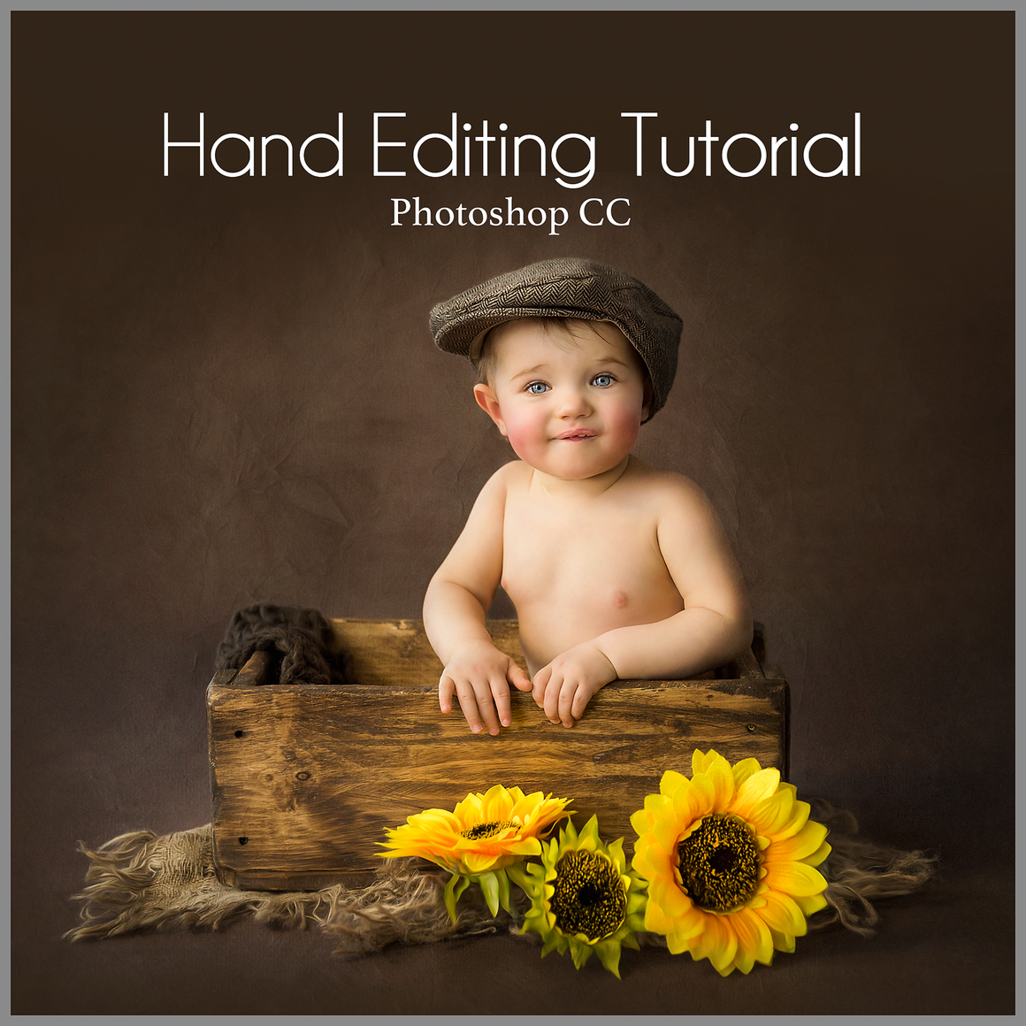 Fine Art Simple Studio Sitter Baby Editing Tutorial  | Photoshop Class - Dream Artsy Actions Tutorials