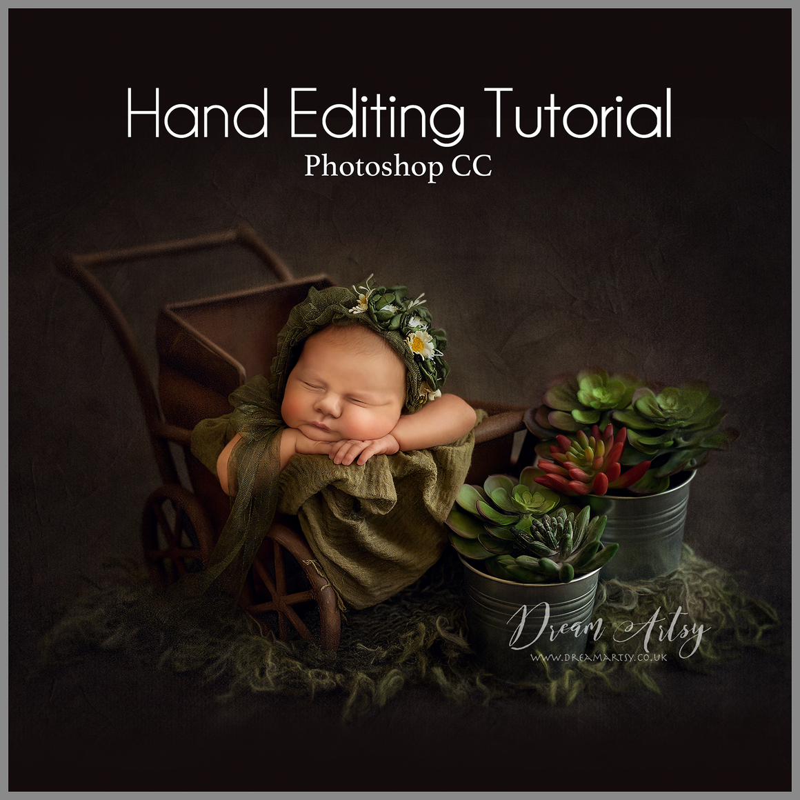 Girl & Succulents Editing Tutorial | Photoshop Class - Dream Artsy Actions Tutorials
