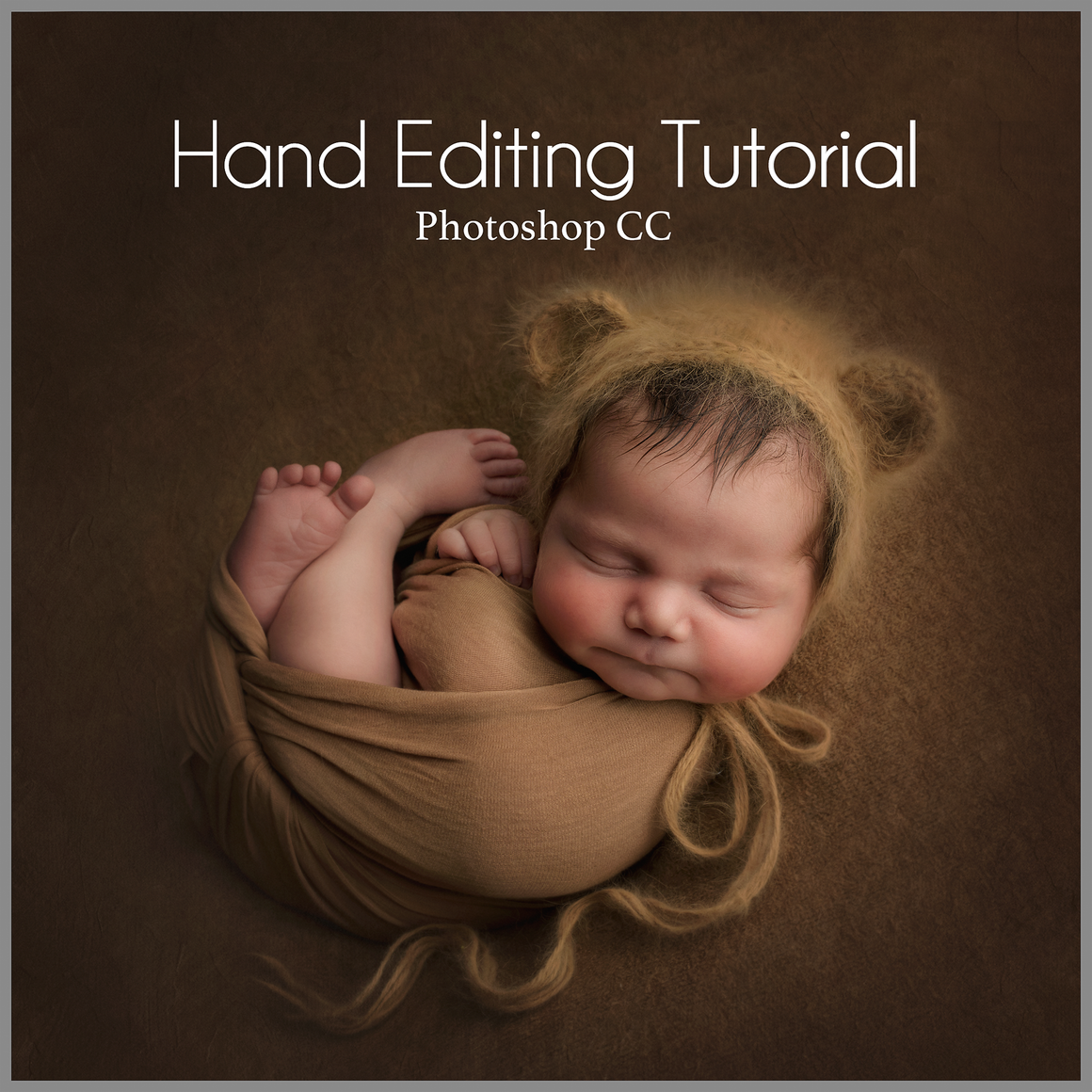 Teddy Bear on Beanbag Newborn Editing Tutorial | Photoshop Class