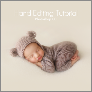 Teddy Bear in Light Vanilla Newborn Editing Tutorial | Photoshop Class