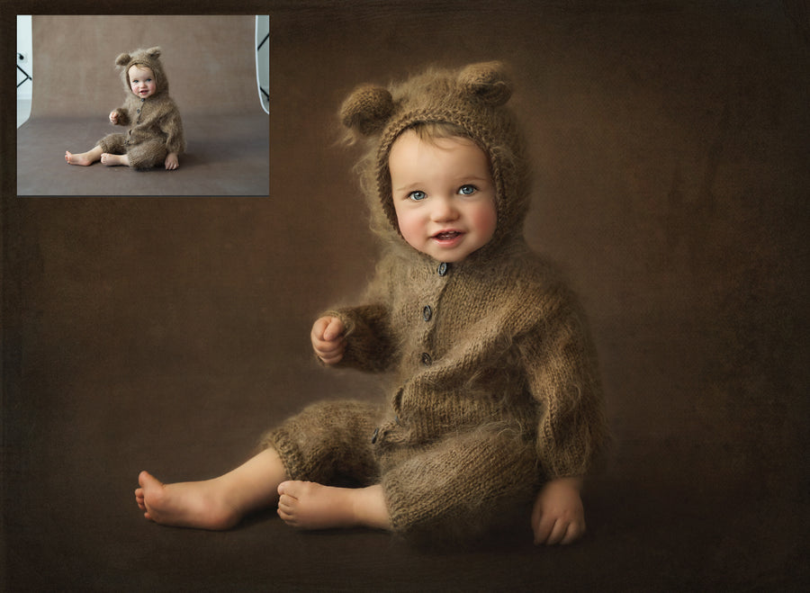 Fine Art Studio Teddy Sitter Baby Editing Tutorial | Photoshop Class - Dream Artsy Actions Tutorials
