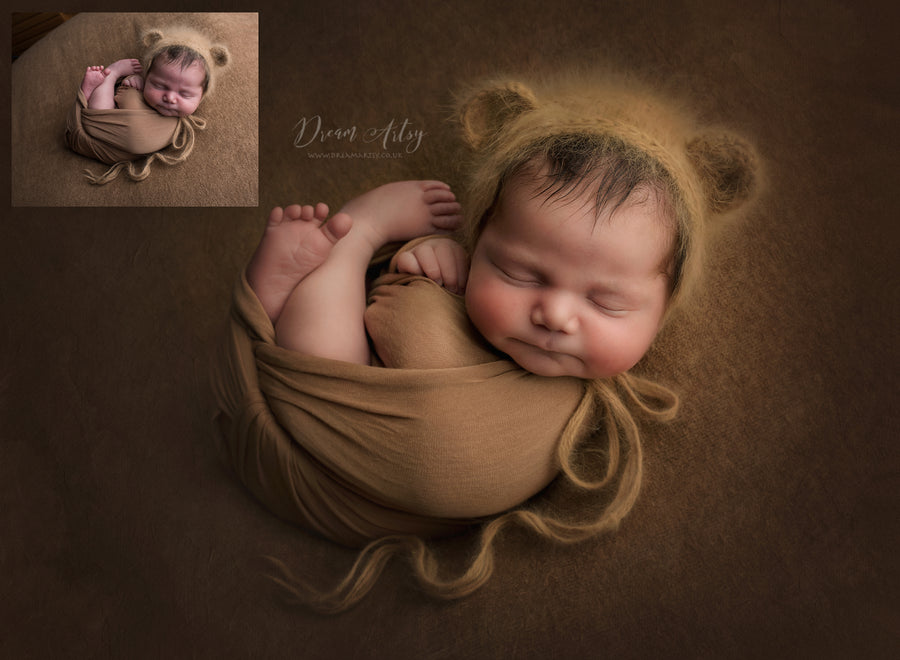 Teddy Bear on Beanbag Newborn Editing Tutorial | Photoshop Class - Dream Artsy Actions Tutorials