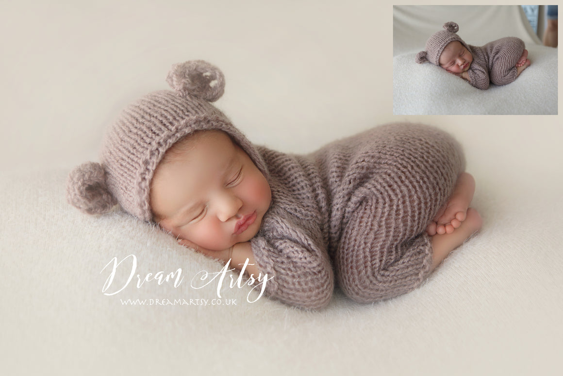 Teddy Bear in Light Vanilla Newborn Editing Tutorial | Photoshop Class - Dream Artsy Actions Tutorials