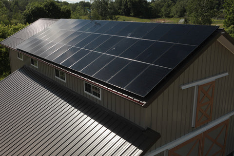 Solar panels on our barn
