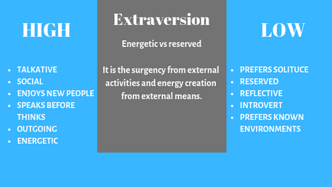 FFM, Big Fiver, personality, extraversion