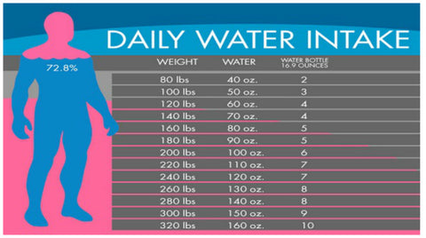 Daily water intake chart