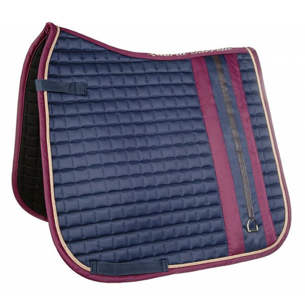 HKM Dressage Saddle Pad Morello Stirrups - Indigo