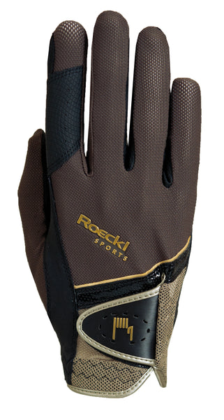 Roeckl Madrid Gloves - Brown/Gold