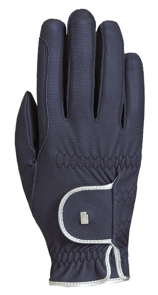 Roeckl Lona Gloves - Blue/Silver