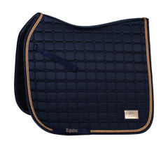 NEW! Equito Navy Rose Gold Dressage Saddle Pad