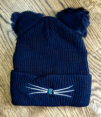 NEW! Fabulous Cat Hat in Teal Bling