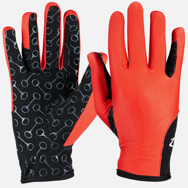 HorZe Riding Gloves with Silicone Palm Print