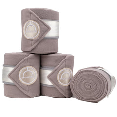 NEW! Montar Fleece Bandages Dlux Ivory - Set of 4