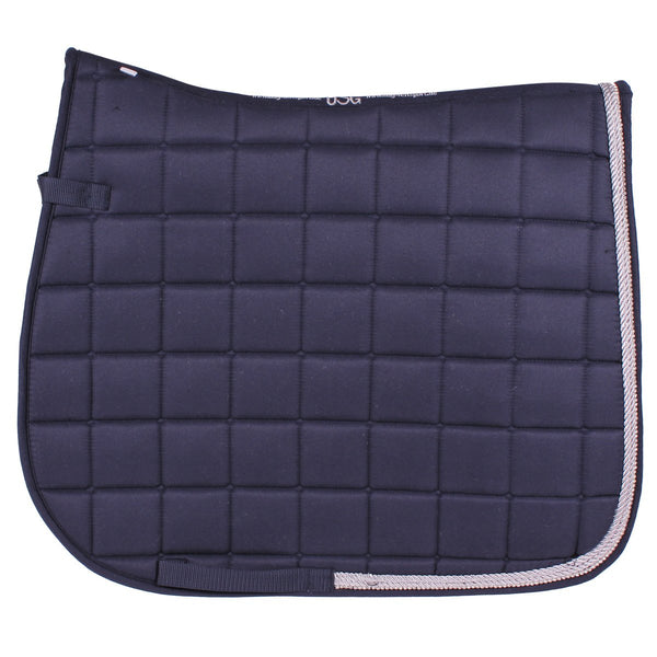 USG Baroness Dressage Saddle Pad - Navy/Silver