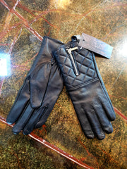 Auclair Leather Quilted Glove with Zipper