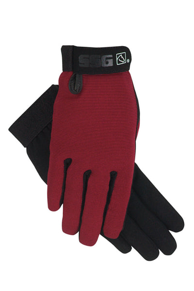 SSG All Weather Riding Glove -Burgundy - Fabulous Horse