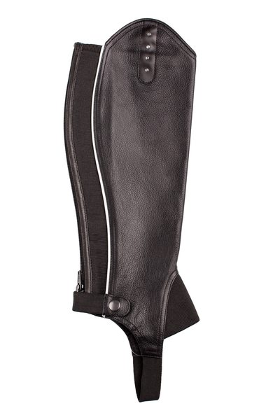 Union Hill Black Leather Bling Half Chaps - Fabulous Horse