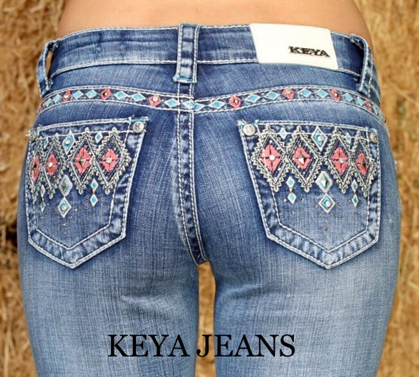 Keya Bootcut Jeans Aztec Diamonds