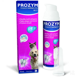 Prozym Toothpaste Kit (Paste and Finger Brush)