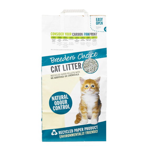 Breeders Choice™ Recycled Paper Pellet Cat Litter