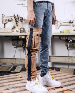Cargo Strapped Jeans