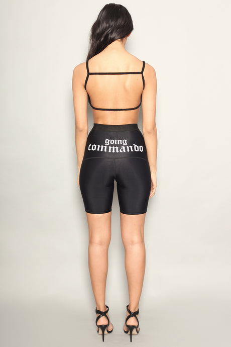 Black Going Commando Lycra Cycling Shorts