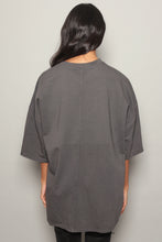 Grey Logo Oversized Dress T-Shirt