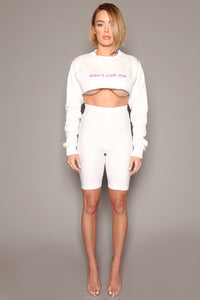 White Lycra Cycling Shorts