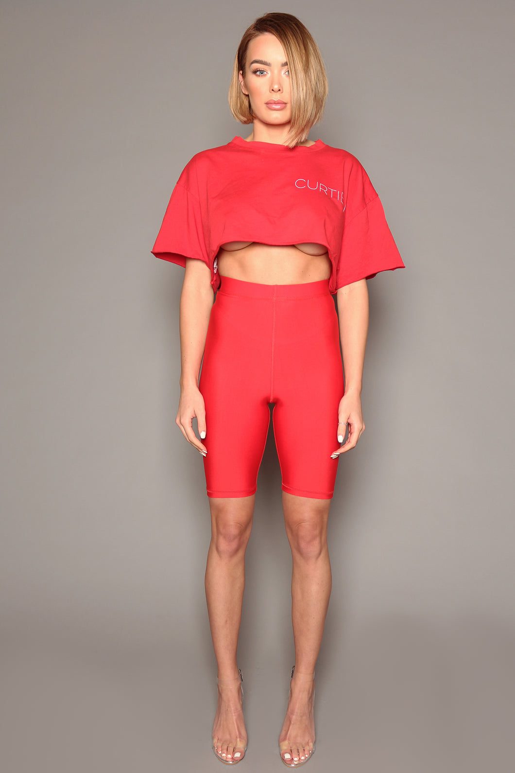 Red Lycra Cycling Shorts