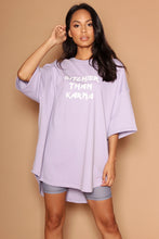 Lilac Bitchier Than Karma Oversized Dress T-Shirt