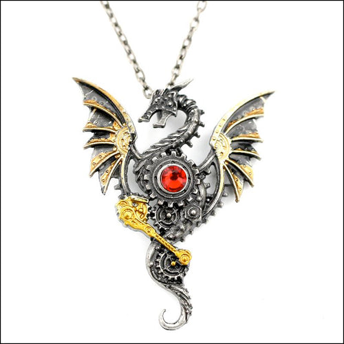 Flying Dragon Pendant Chain Necklace