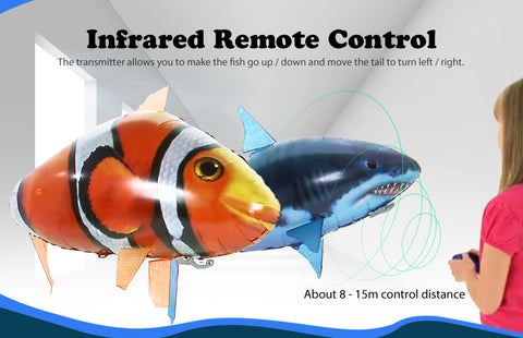 Infrared control air flying fish